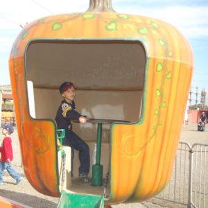 Spinning pumpkin